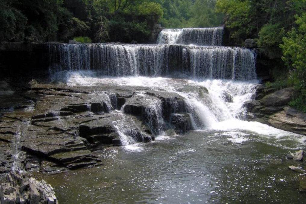 The falls at the Penn Yan Outlet Trail