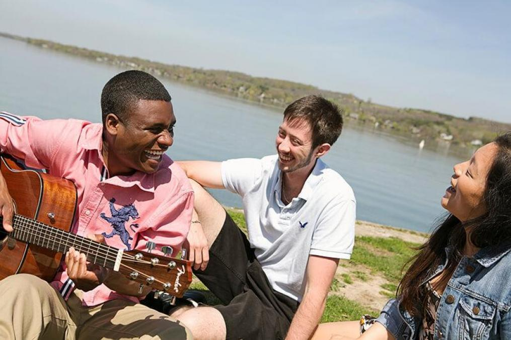 Willie Jones III plays music at Point Neamo